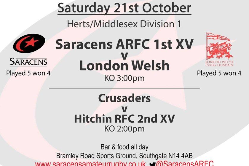 Saracens VS London Welsh