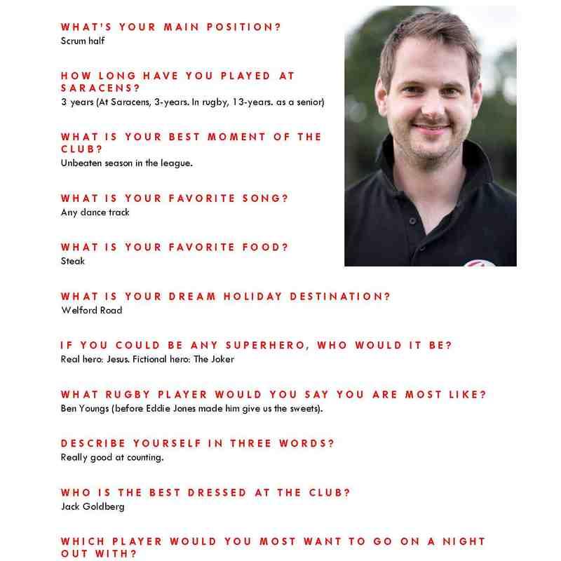Senior Squad Player Profiles
