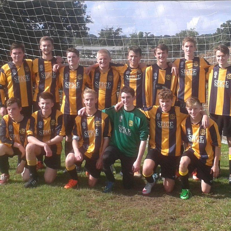 U18 lose to Thatcham town Harriers 0 - 2