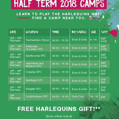 Quins Camp February 2018