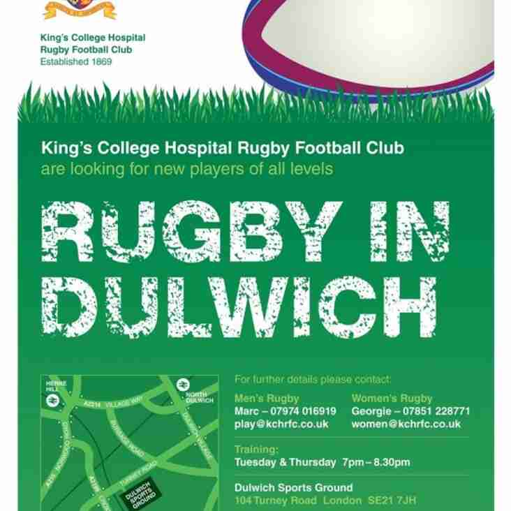 ? Did you get a 'Rugby in Dulwich' Flyer ?