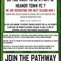 HEANOR TOWN JNRS ARE LOOKING FOR NEW RECRUITS - JOIN THE PATHWAY!