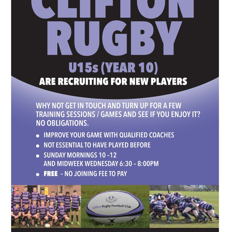 Under 15s are looking to add players to their squad