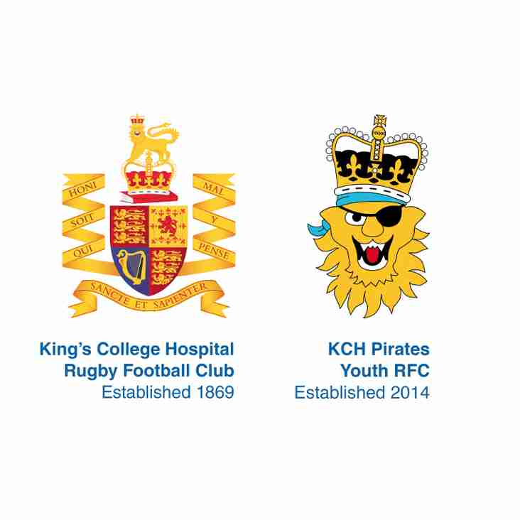 KCH Pirates Youth Rugby to Start again on Sunday 17th September