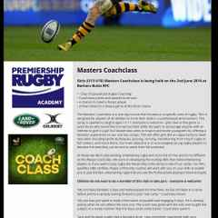 Wasps are holding a Rugby Camp at Barkers in half term