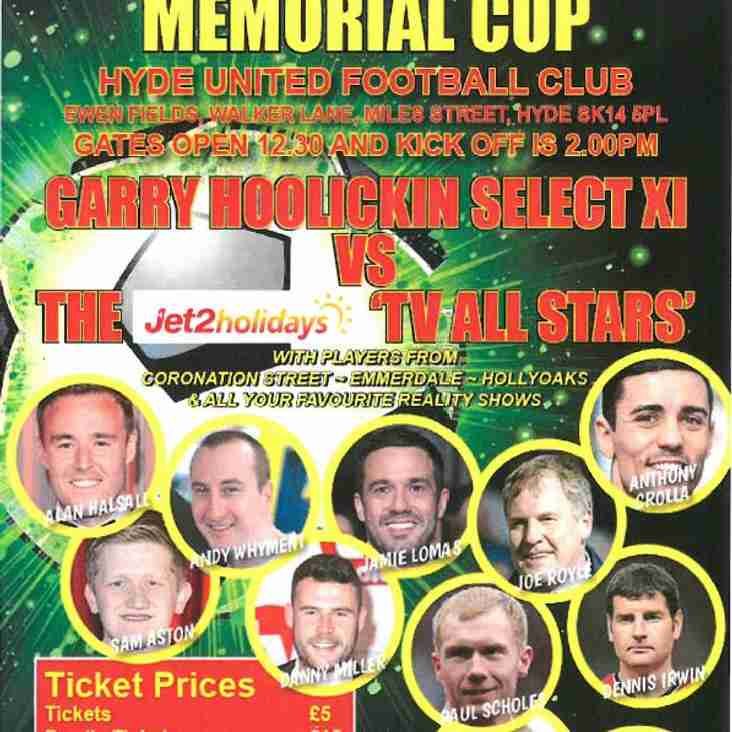 MASSIVE CHARITY MATCH THIS SUNDAY - A CAST OF TV AND SPORTING STARS