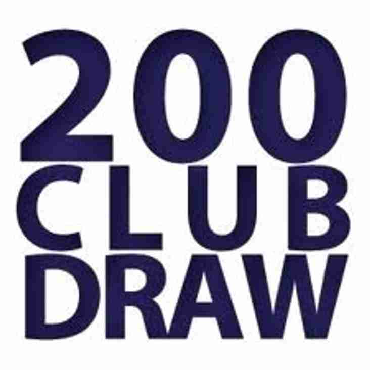 September 200 Club Draw