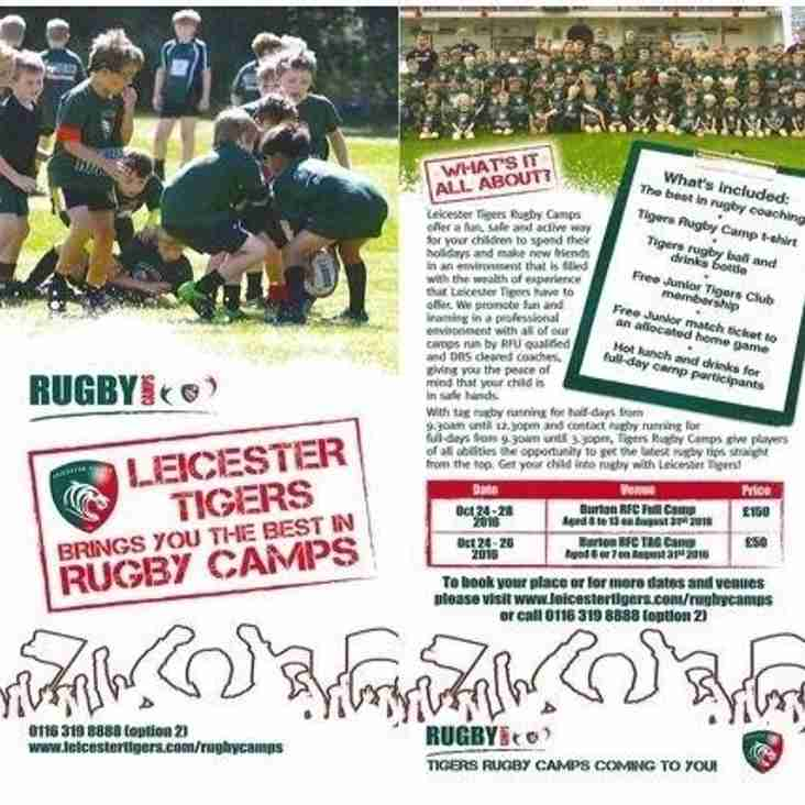 Leicester Tigers Rugby Camps