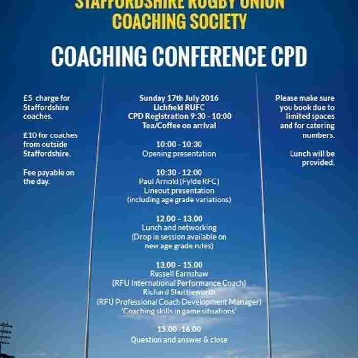 2016 Staffordshire Coaching Conference