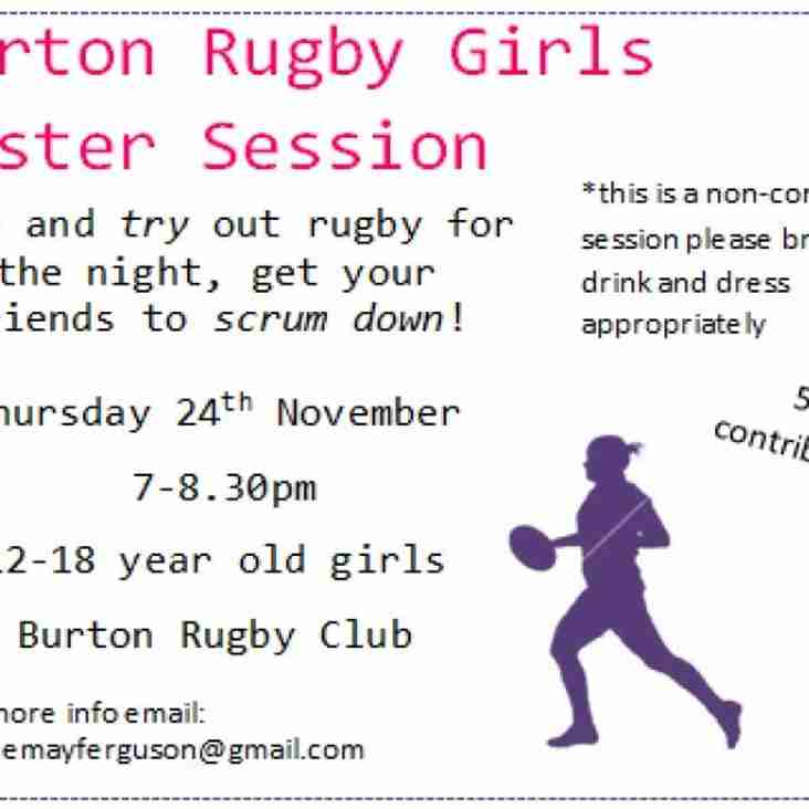 Girls Rugby Taster Session