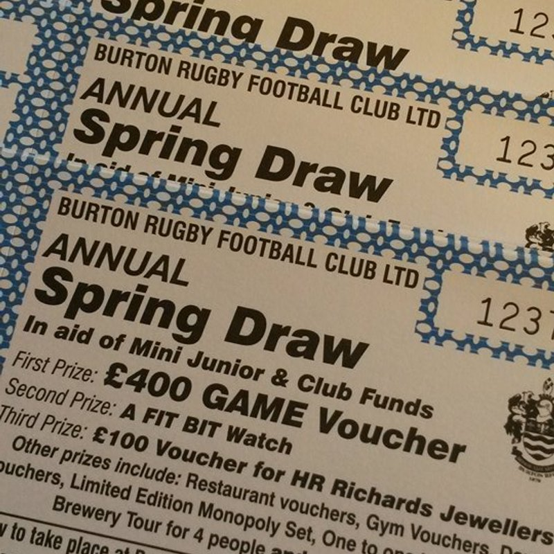 Spring Draw Tickets Just £1 Each