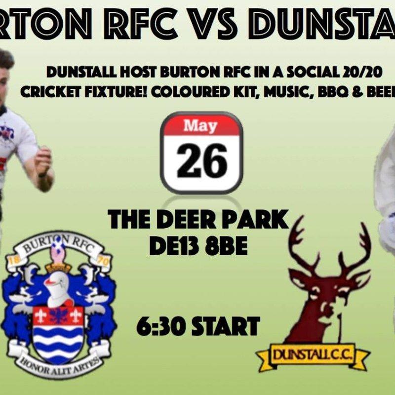 Burton RFC v Dunstall CC