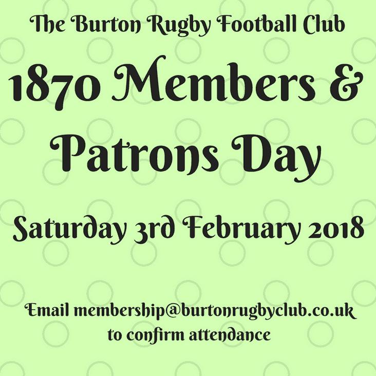 1870 Members & Patrons Day