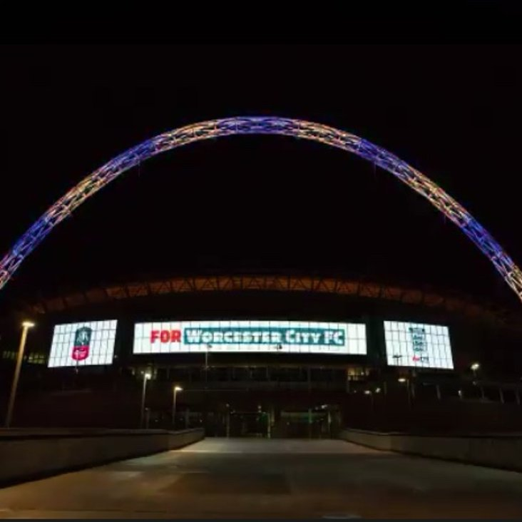WEMBLEY STADIUM LIGHTS UP FOR - WORCESTER CITY FC<