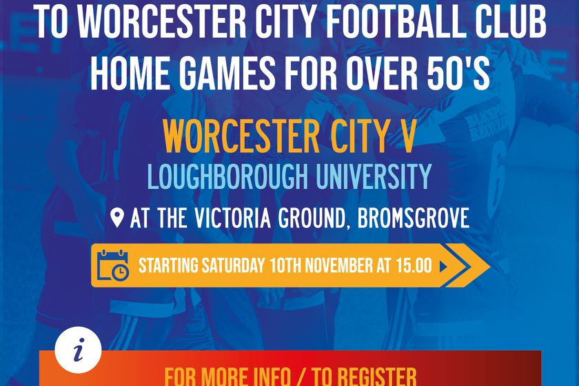 AGE UK Worcester and District and Worcester City Football Club Join Forces to Support Older People