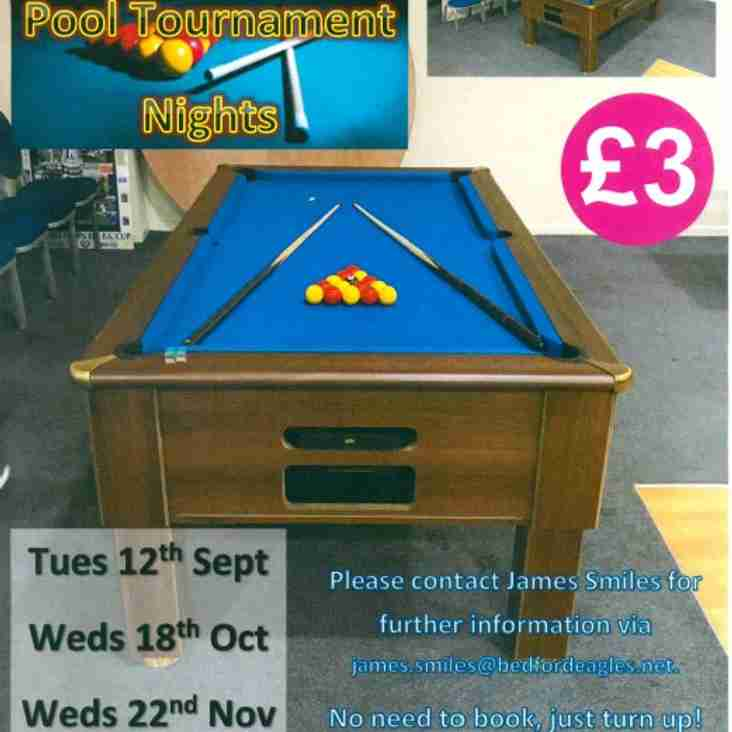 Supporters Club Announce Autumn Pool Tournament Nights