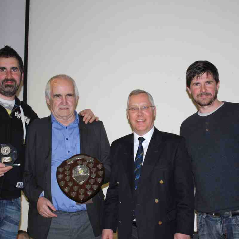 Norman Cooley with sons, Alan & Peter - Clubman of the Year