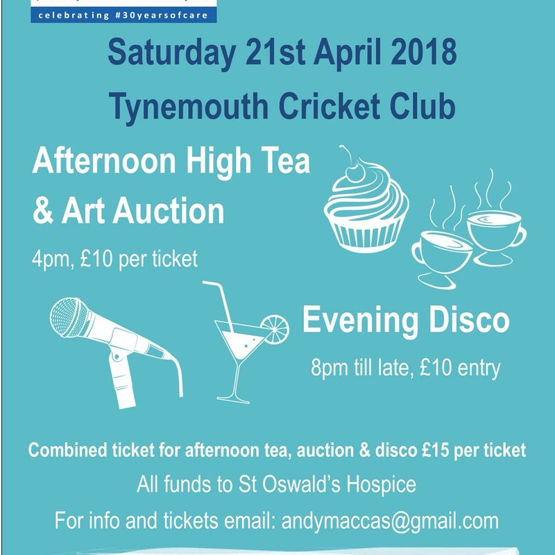Afternoon High Tea and Art Auction followed by Evening Disco