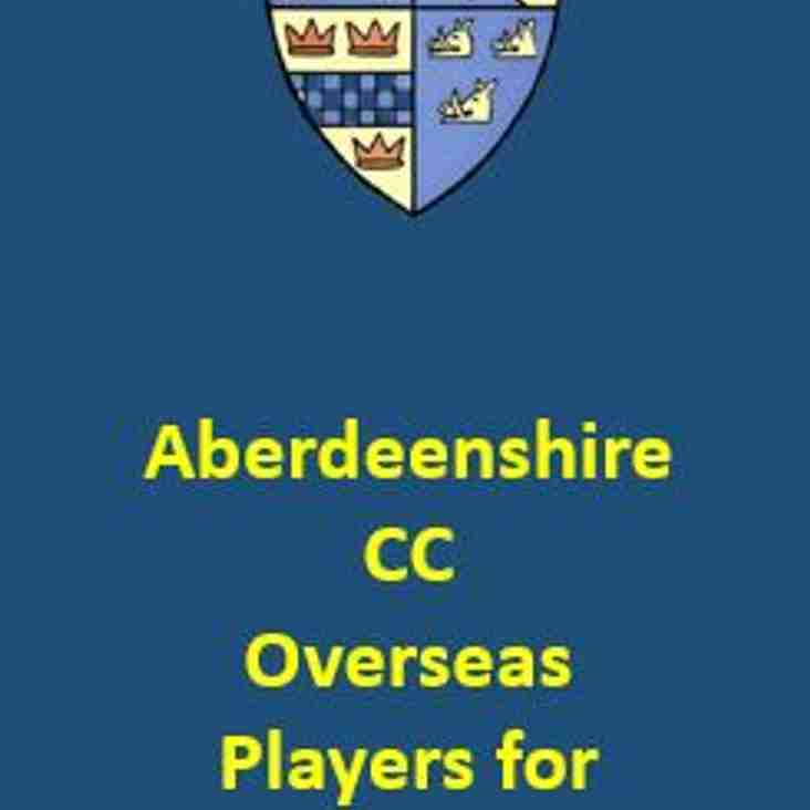 Overseas Players for 2019