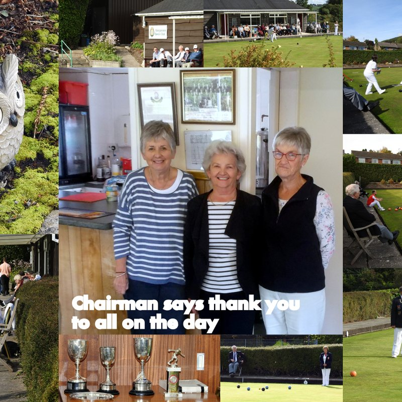 All Day Refreshments and Bowls Club Finals 2017