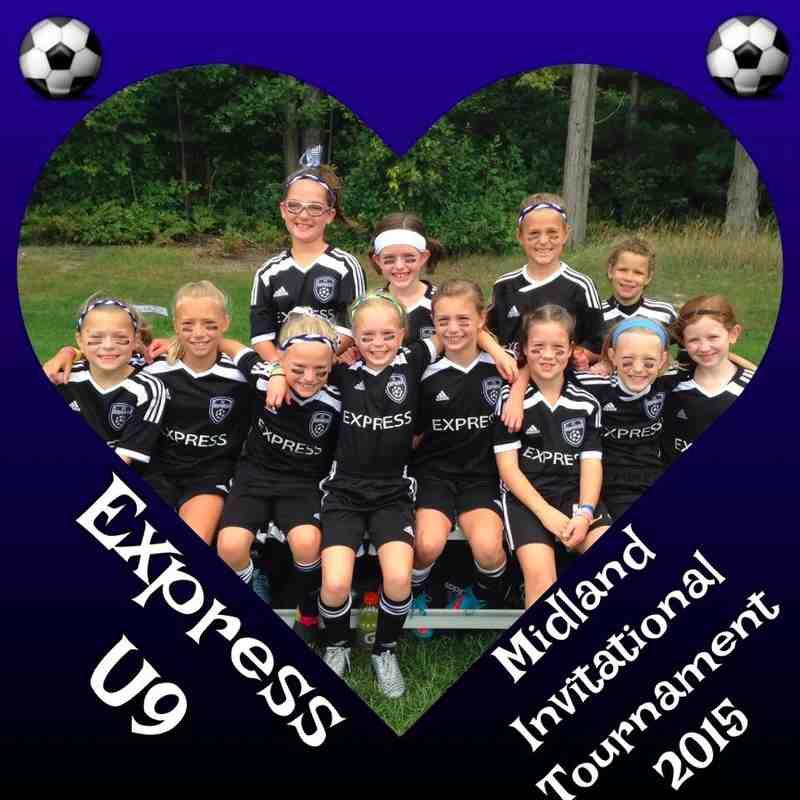 Express FC - Midland Tournament.  Finalists U9Girls, U10Girls & U11 Girls