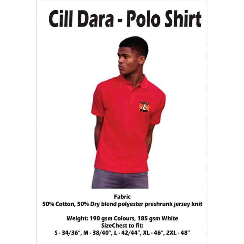 Cill Dara Polo Shirt: (Red)