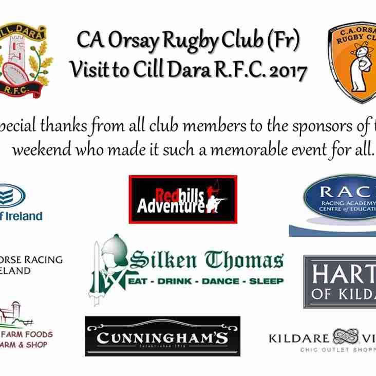CA Orsay Rugby Club Visit 2017