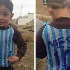 Boy in Messi bag viral pic proves the power of football