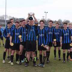Congratulations to our U17's on their league and cup double