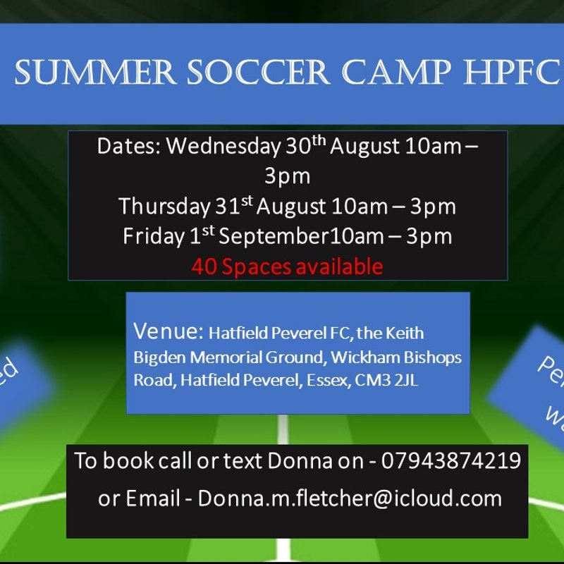 HPFC Summer Soccer Camp Returns in August
