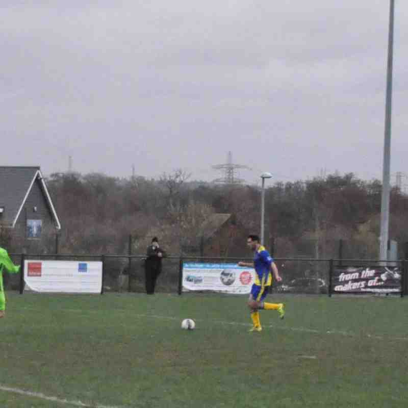 Saturday 12th December 2015, Sydenhams Wessex League Div 1. Totton & Eling v Romsey Town. Final score - Totton & Eling 0, Romsey Town 2.