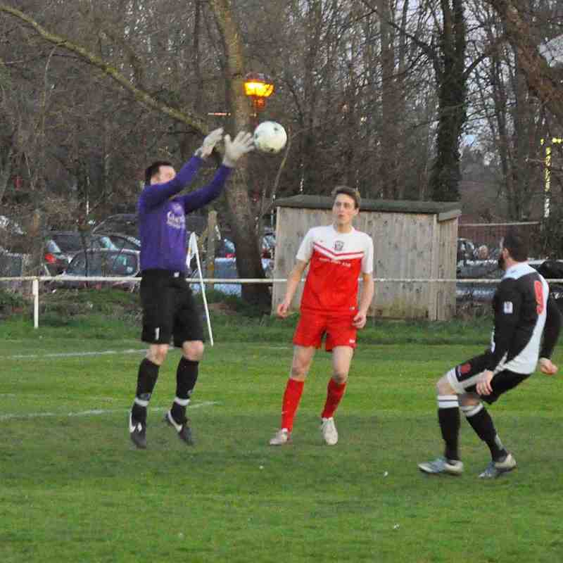 Tuesday 5th April 2016, Sydenhams Wessex League Division 1. Romsey Town v Ringwood Town. Final score - Romsey Town 1, Ringwood Town 0.