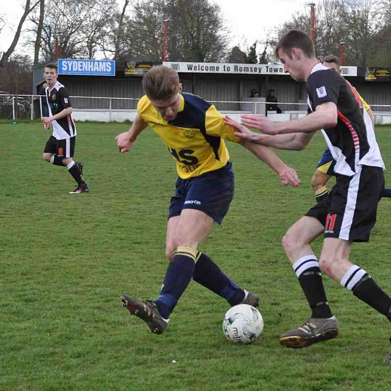 Saturday 9th April 2016, Wyvern Challenge Cup Semi-Final, Romsey Dev squad v Moneyfields res. Final score - Romsey Dev Squad 1, Moneyfields Res 6.