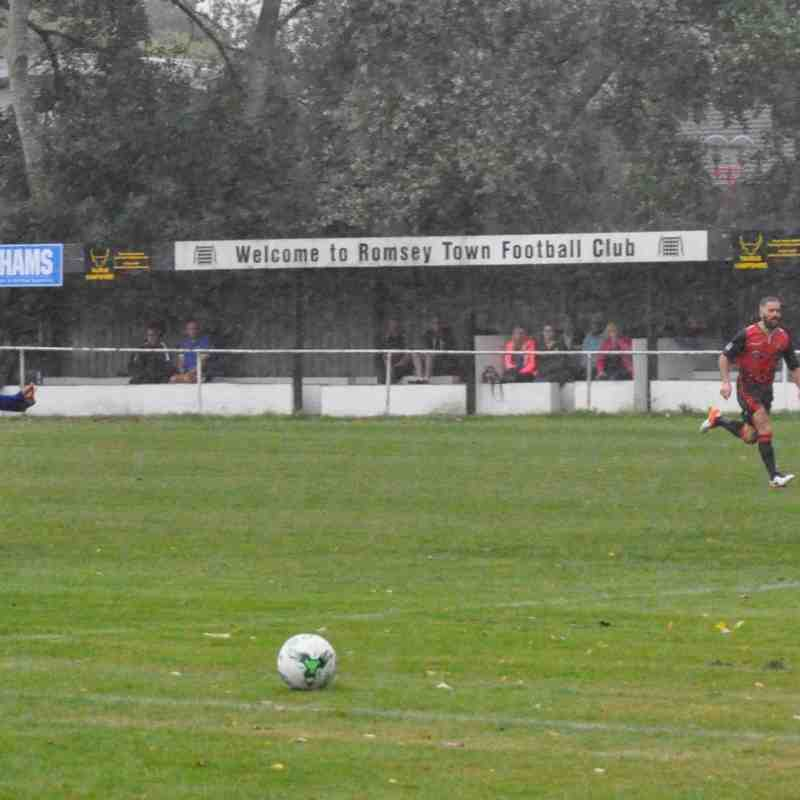 Saturday 3rd September 2016, Wessex League 1, Romsey Town v Christchurch. Match abandoned after 73mins due to waterlogged pitch, Romsey winning 1-0 at the time.