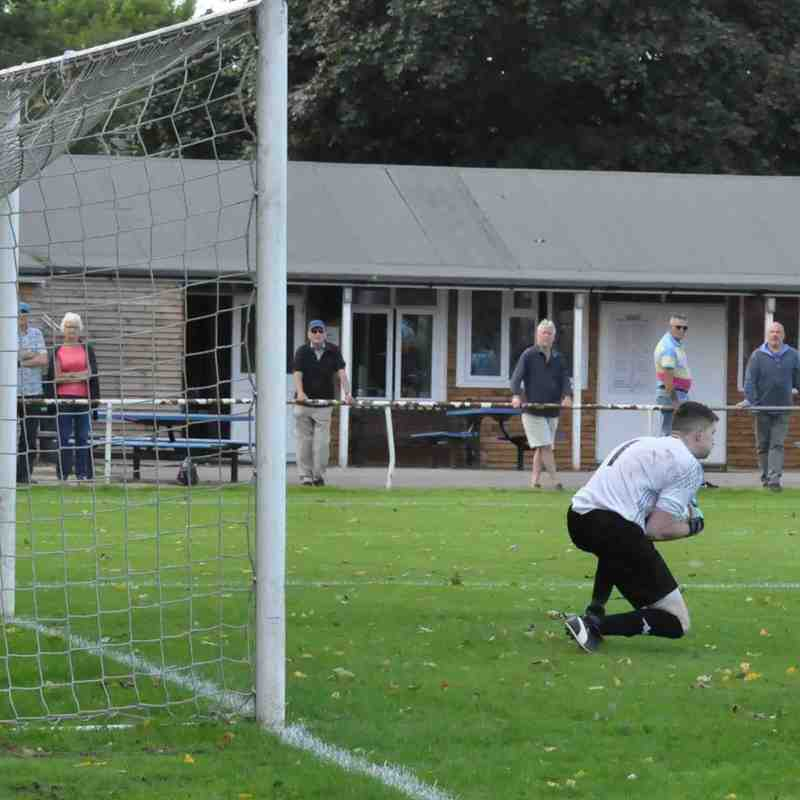 Saturday 19th August 2017. Sydenhams Wessex League 1. Romsey Town v Fawley AFC. (H) Final score - Romsey Town 2, Fawley AFC 1.