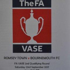 Saturday 23rd September 2017, FA Vase 2nd Qualifying round. Bournemouth Poppies (H) Won 2-0