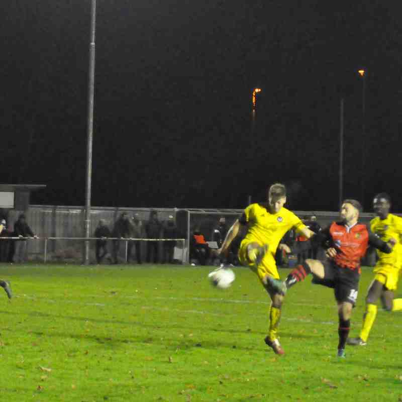 Saturday 2nd December 2017, Follands Sports (H). Final score - Romsey Town 0, Follands Sports 2