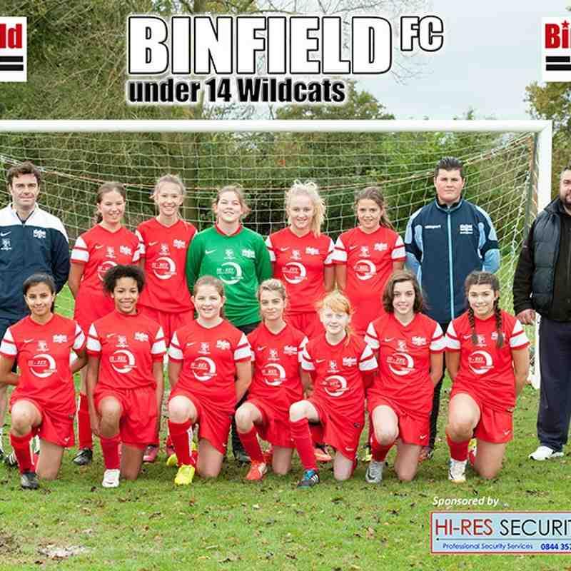 Binfield U14 Wildcats v Ashridge Park - 8th November 2014