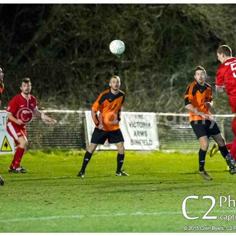 BINFIELD RES  4-0 BARLEY MOW - East Berks League Fielden Cup Semi Final - 27th March 2015