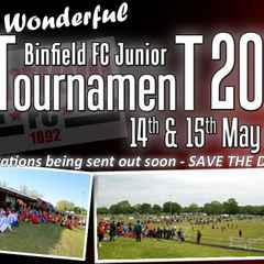 BINFIELD FC JUNIOR TOURNAMENT 2016....