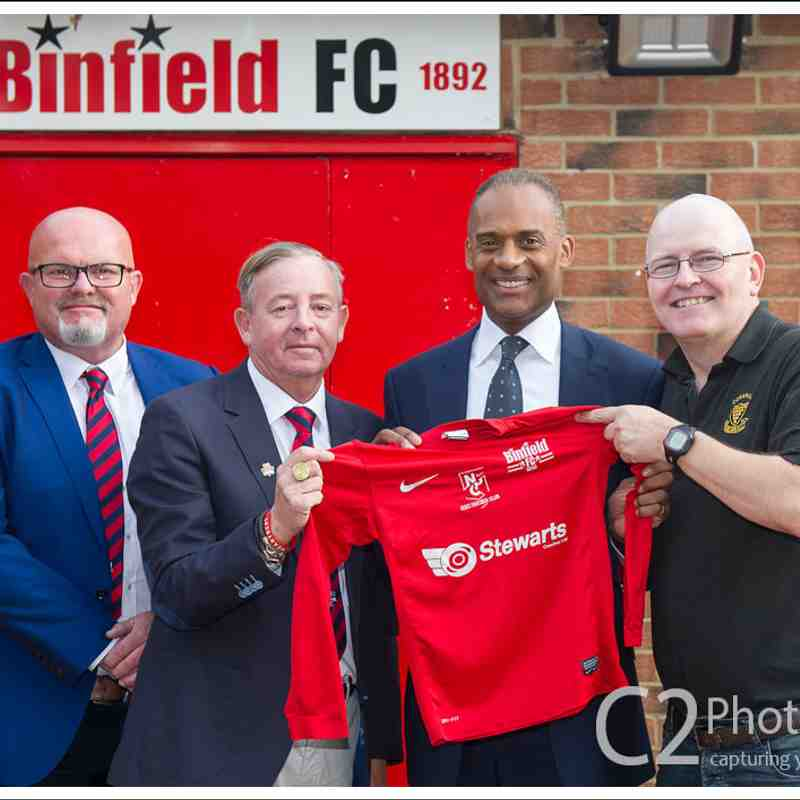Binfield FC new clubhouse official opening by Adam Afriyie MP - 28th Oct 2017