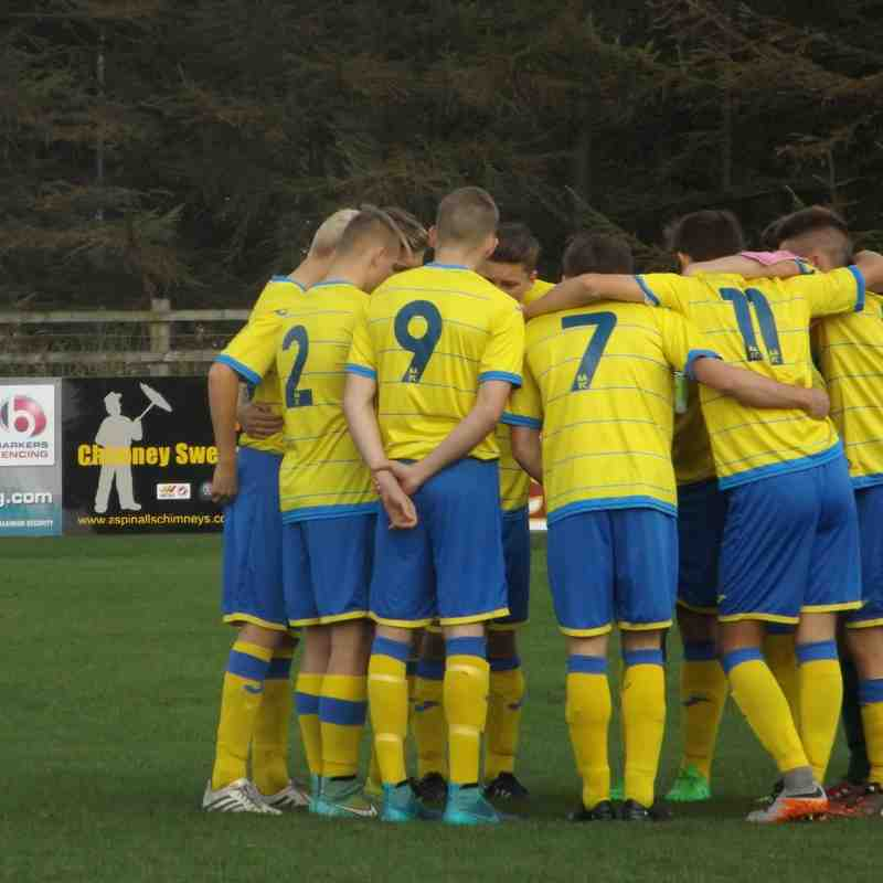 Ashton Athletic U18's v Prescot Cables - Cup match - Pics by Sharon Lawrence