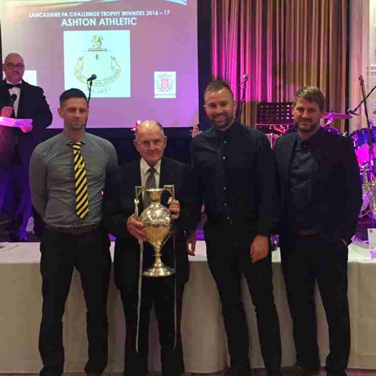 Management Team presented with Lancs Trophy