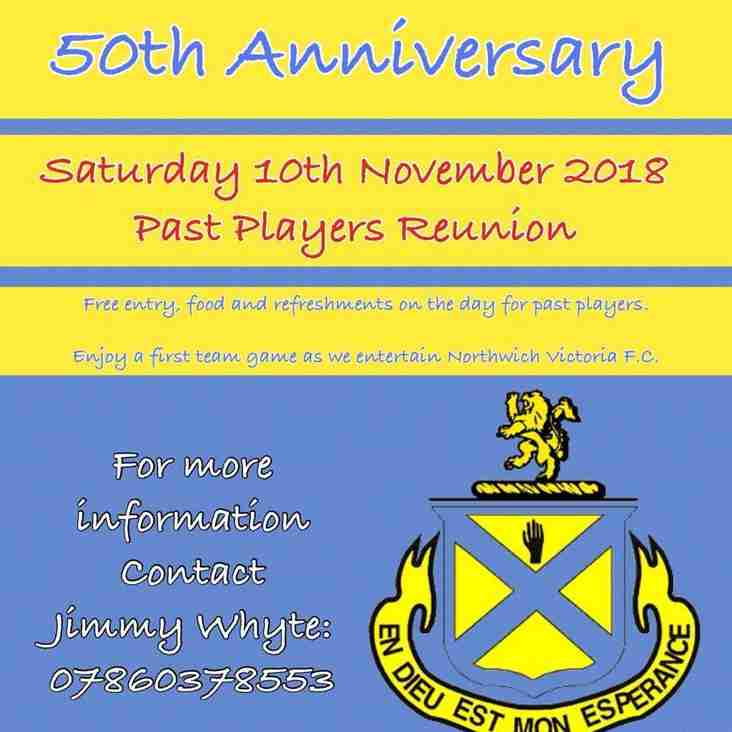 Reunion for past players this Saturday
