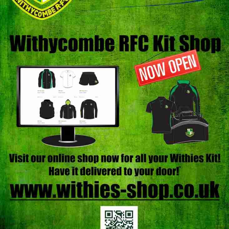 WRFC Kit Shop NOW OPEN!