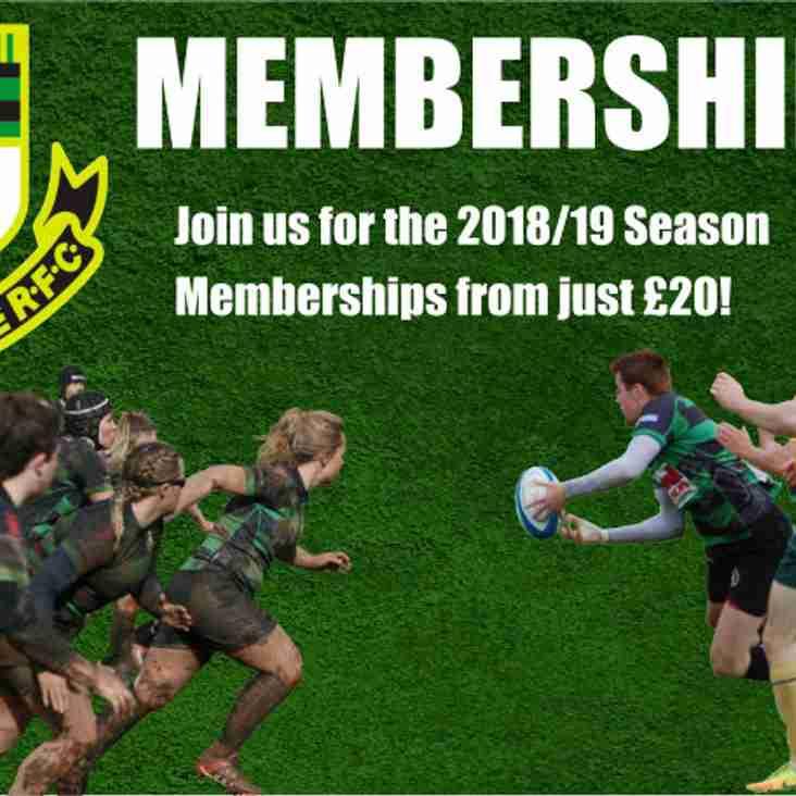 2018/19 Membership Now Open!