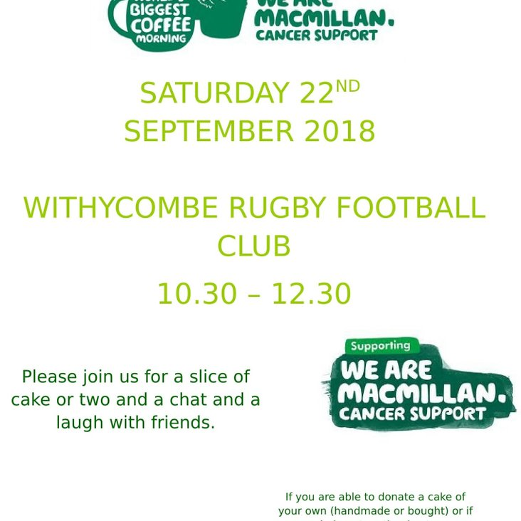 World's Biggest Coffee Morning at Raleigh Park<