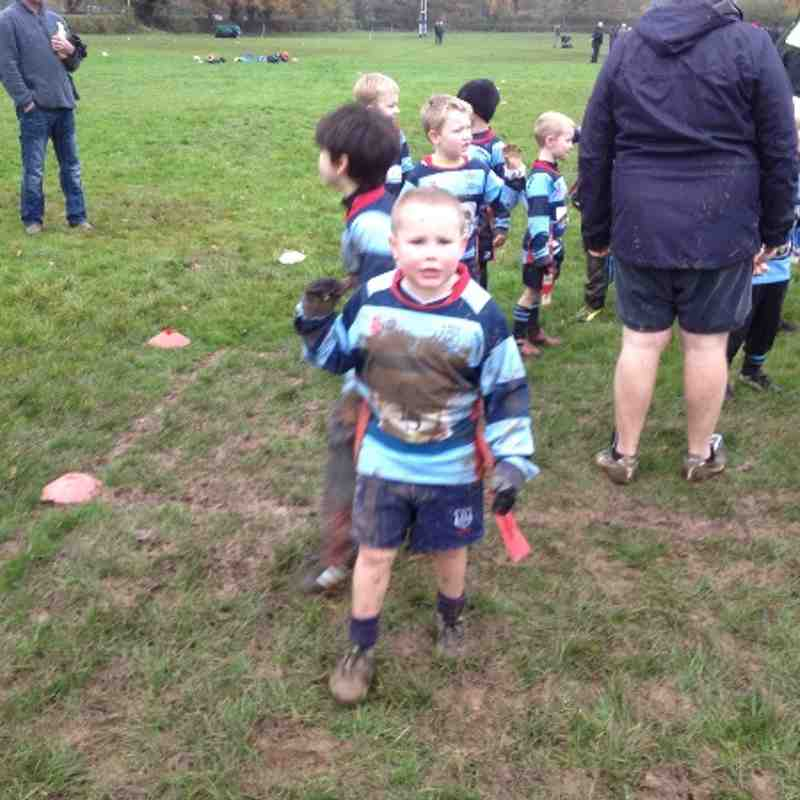 A muddy Under 7 against old halesonians.