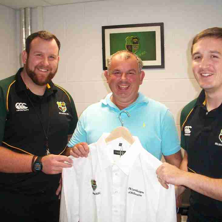 Paul Bignall receives his sponsored shirt