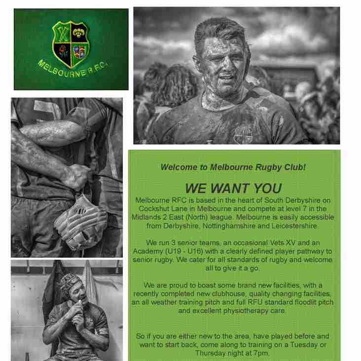 Melbourne RFC recruitment